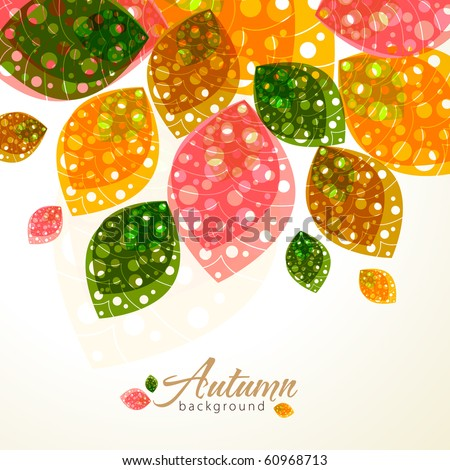 Autumn design - stock vector
