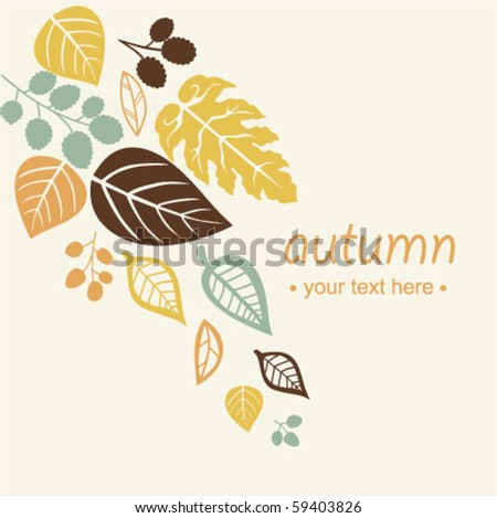 Autumn falling leaves background - stock vector