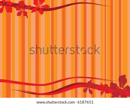 autumn floral design - stock vector