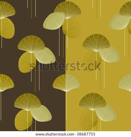 autumn  floral  seamless vector pattern - stock vector