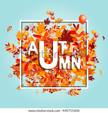 Autumn foliage, banner for your design - stock vector