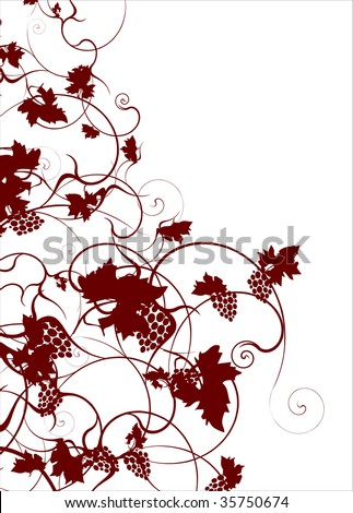 Autumn grapevine vector background template - stock vector