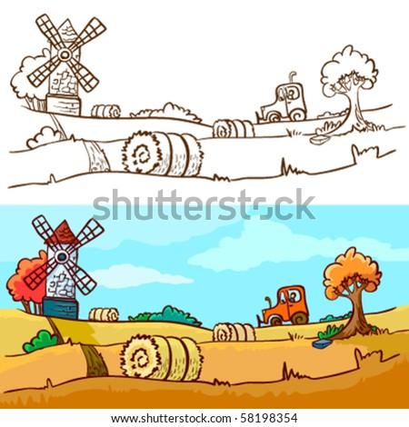 Autumn harvesting - stock vector