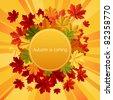 Autumn is coming. Vector illustration. - stock photo