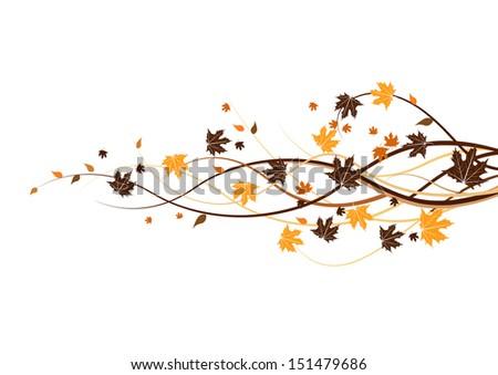 autumn leaf  - stock vector