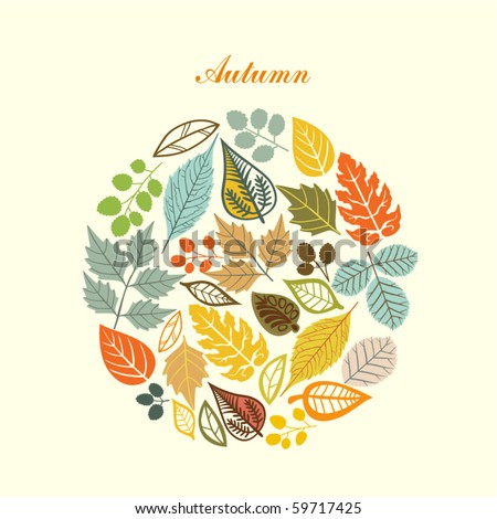 autumn leaf background - stock vector