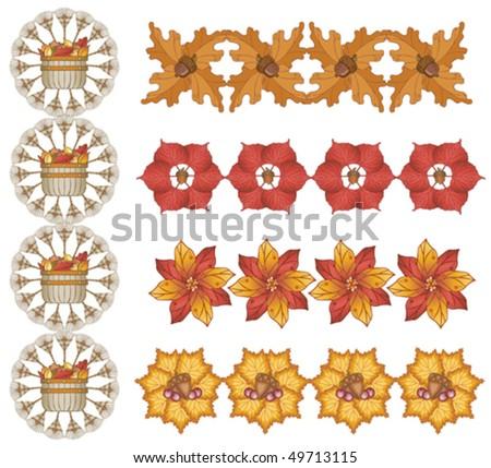 Autumn Leaf Designs - stock vector