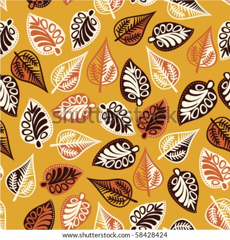 Autumn leaf  seamless pattern. - stock vector