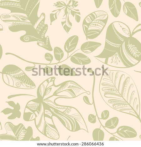 Autumn leaves. Abstract seamless background. EPS 10. - stock vector