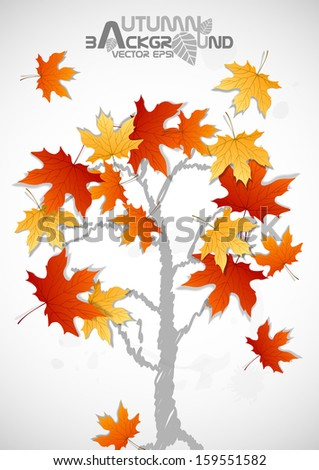 Autumn Leaves Background. Vector Illustration. Eps 10. - stock vector