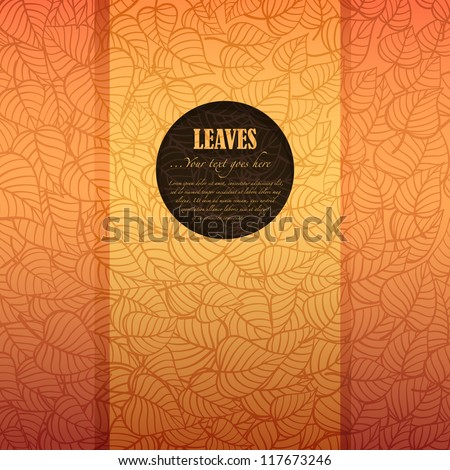 Autumn leaves banner made of fancy paper with space for Your text, vector eps8 illustration - stock vector