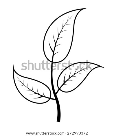 Autumn Leaves Branch - stock vector