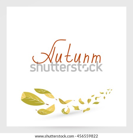 Autumn leaves design elements - stock vector