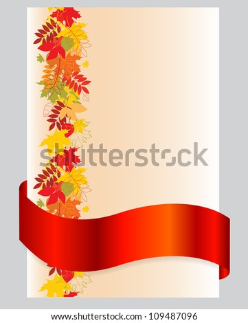 Autumn leaves falling background - stock vector