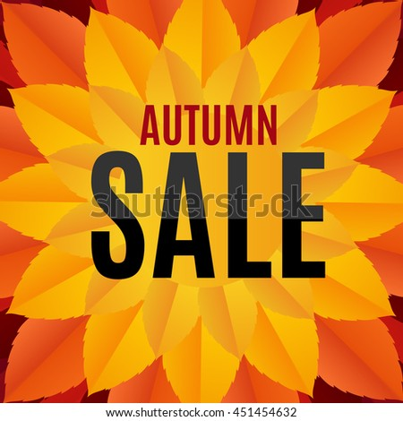 Autumn Leaves Sale Background Vector Illustration EPS10