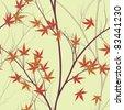 autumn leaves (seamless pattern) - stock vector