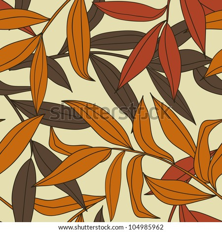 Autumn leaves - seamless vector pattern - stock vector