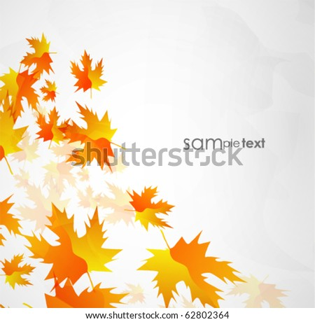Autumn leaves. Vector seasonal background - stock vector