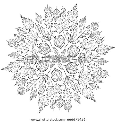 Autumn colors stock images royalty free images vectors for Fall mandala coloring pages