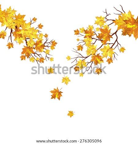 Autumn maple leaves background. EPS 10 vector illustration. - stock vector