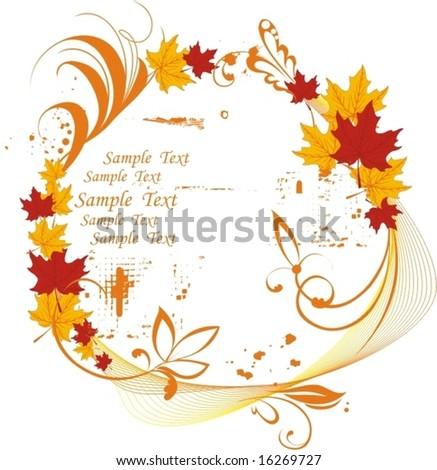 autumn pattern - stock vector
