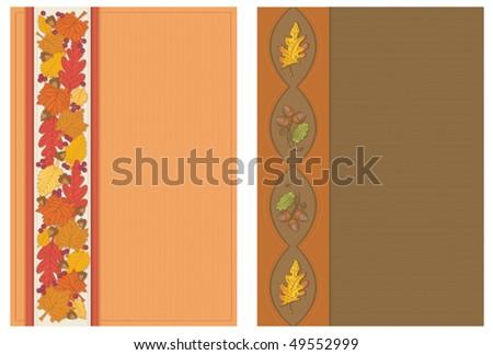 Autumn Postcards Vertical - stock vector