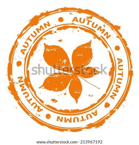Autumn rubber stamp vector - stock vector