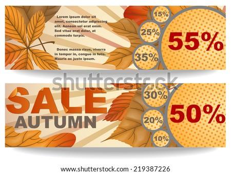 Autumn Sale Background. Vector Illustration. Eps 10 - stock vector