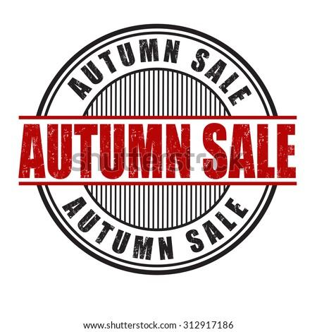 Autumn sale grunge rubber stamp on white background, vector illustration - stock vector