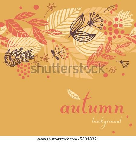 Autumn seamless background - stock vector