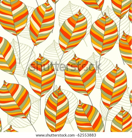 Autumn seamless pattern with leaf - stock vector