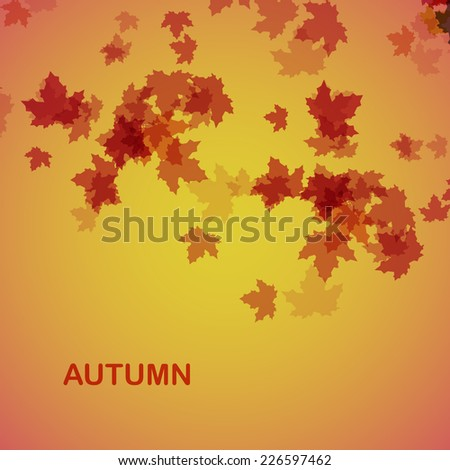 Autumn seasonal background eps10, vector illustration - stock vector