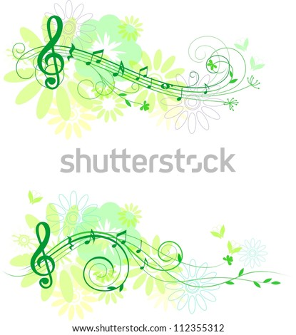 Autumn set of music  design elements - stock vector