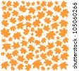 Autumn Set of Orange Maple Leaves on White Background, Vector Version - stock vector