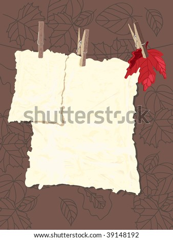 autumn template - stock vector