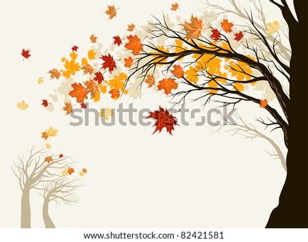 Autumn tree - stock vector