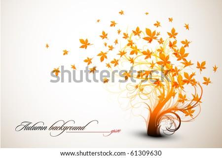 Autumn Tree | Clean Vector Composition - stock vector