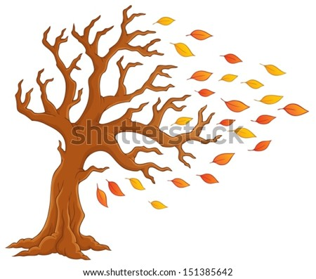 Autumn tree theme image 1 - eps10 vector illustration. - stock vector