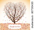 Autumn tree with space for text. Vector illustration. - stock vector