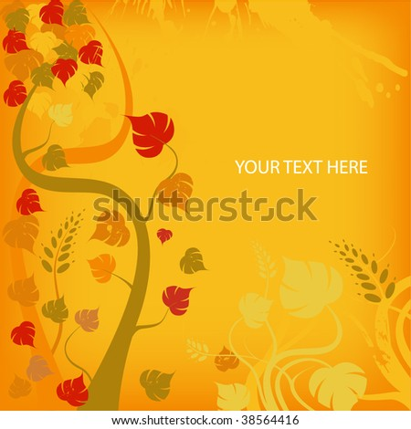 Autumn vector background - stock vector