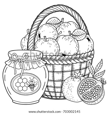 Autumn Vector Coloring Page Adults Black Stock Vector 703002145 ...