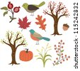 Autumn vector images - stock vector