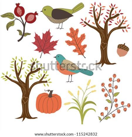 Autumn vector images - stock vector