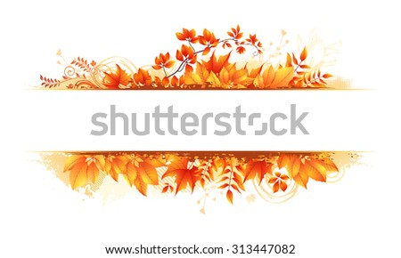 autumn vector leaves background - stock vector