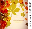 Autumnal background - stock vector