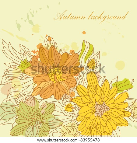 Autumnal background with your text (vector eps 8) - stock vector