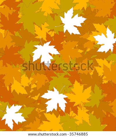 Autumnal concept background - vector illustration