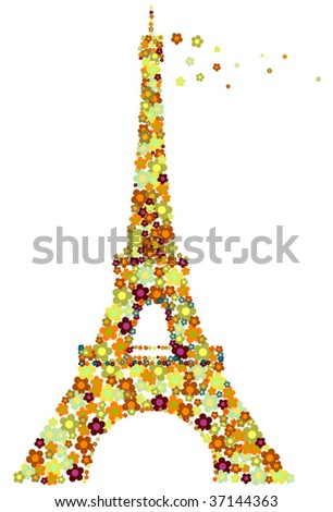 Autumnal Eifel tower.