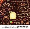 Autumnal retro design - stock vector