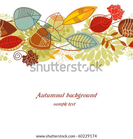 Autumnal seamless background - stock vector